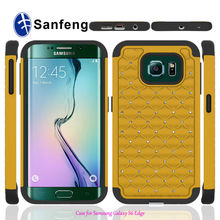 3 in 1 Bling Diamond Hard Combo Case for Samsung Galaxy S6 Edge