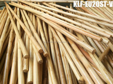 paint wooden broom mop handle stick with metal thread and length 60~180cm X diameter2.2~3.6cm