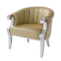 LC17 modern stainless steel single seater sofa chair
