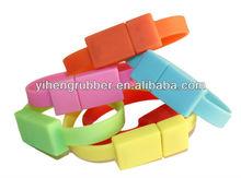 silicone rubber usb bracelet