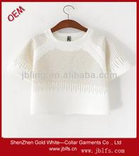 fashionable beaded women's t-shirt