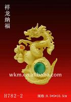 2014 new year gift golden chinese dragon