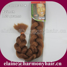 STOCK Color 30# 82inch 165grams x-pression ultra hair braid extensions / Afro super synthetic jumbo braid hair