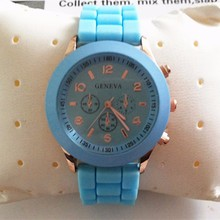 YX6001 Promotional Gifts Quartz Movt Cheap Geneva Silicone Jelly Watch