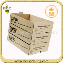 brown corrugated fruit and vegetables tray carton,carton tray for fruits,packaging fruit carton