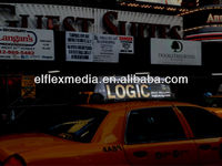 TAXI top advertising EL sign