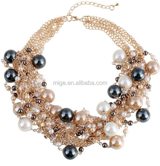 Wholesale Big Oversized High End Wholesale Fashion Jewelry Necklace N3702