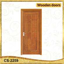 Shallow carving PVC veneer porte en bois prezzi wooden out door