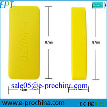 Alibaba wholesale price yellow silicon 5200mah portable mobile phone charger (EP076-4)