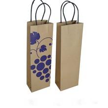 reciclables de papel kraft de yute de regalo de papel bolsa de vino