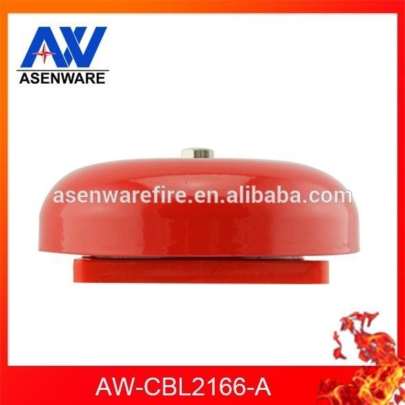 Dc12v или 24 В красный цвет вокруг пожарная сигнализация колокол для автоматического колокольный звон система
