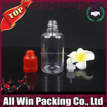 30ml clear empty plastic pet bottle for packing Eliquid with ruby cap bayonet tip