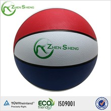 Zhensheng Mini Rubber Red/White/Blue Basketball Customized
