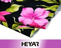 Elegant Flower Digital Printing In Cotton Fabric For Dresses