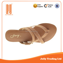 Good quality manufacturer nice ladies flat leather shoes