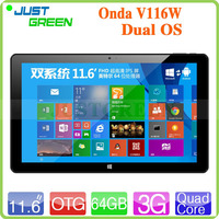 Support Phone Call Tablet PC 100% New Original Brand PC Onda V116W Dual OS 11.6 inch Tablet PC
