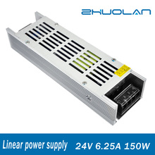 High quality DC Output 24V 6.25A 150W Linear voltage transformer Switching Power Supply with AC 110/220V