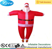 Inflável papai FANCY DRESS COSTUME OUTFIT terno pai natal XMAS PARTY