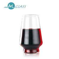 Heat resisting colorful led glass beer cup glass wine cup handmade glass cup OEM ODM 300 ml