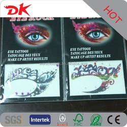 Custom trendy charming rock eyeshadow tattoo/crystal eye tattoo sticker