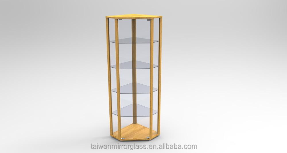 Mode hoek glas crystal sieraden vitrinekast archiefkasten - Vitrine en verre chez ikea ...