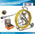 Witson cámara de tuberías del sistema de inspección con cámara pan tilt, empuje 120m ro de fibra de vidrio cable( w3- cmp3688)