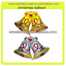 Christmas Bell Foil Balloons 98X72cm two color Party Decorations