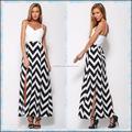 2015 recién llegado de Zig Zag Chevron mujeres Maxi vestido LC591