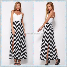2015 New Arrival Zig Zag Chevron Women Maxi Dress LC591