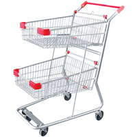 Cheap New design two tiers supermarket shopping cart