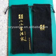 promotional black velvet bag for pen