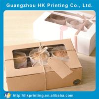 custom wholesale cupcake cheap box packaging