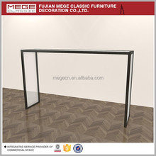 High End Garment Display Glass Rack Clothes Retail Desk