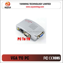 vga to av/video conversion VGA to PC Monitor VGA Converter Adapter