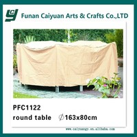 Outdoor round table furniture cover with favorable design