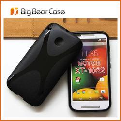 High quality soft tpu back cover for moto e cell phone case