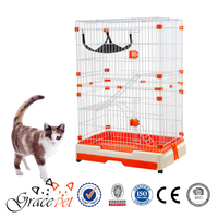 [Grace Pet] High quality luxury big cat cage with hommock