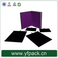 leather furface velvet tray box for jewelry wholesales