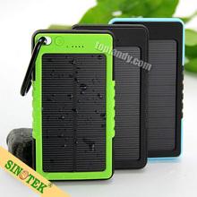 SINOTEK waterproof solar power banks cell phone portable charger 8000mah