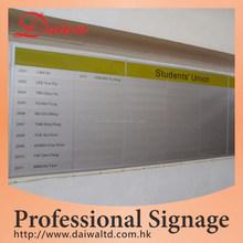 School silk print Aluminum Directory Sign
