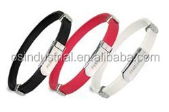 New developping Adjustable Engraved silicone id bracelets