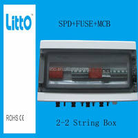 IP65 2 Input 2 Output Solar PV Array Junction Boxes with DC MCB FUSE SPD