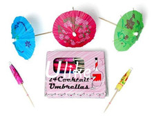 Cocktail Parasols stick use for cake toppers, in drinks and on sandwiches graduation decoration