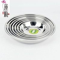 Stainless steel food plates Dinner plates Round plate