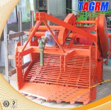 Modern mini combine MSU1200 cassava harvesting machine towed by 90hp