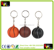 Basketball Ball Soft PU Foam Keychain Key Chain Key Ring Decorative Hanging Ornament Commercial Christmas Gift