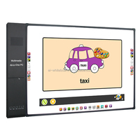 84'' Optical Four Touch Interactive Whiteboard for schools, Multi touch Interactive white board