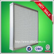 de alta eficiencia hepa de fibra de vidrio de filtro hepa