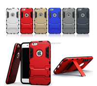 Hot sale Shockproof Newest Tough Armor kickstand Hard Shell Case Phone Back Cover For iPhone 6 4.7 Factory Wholesale