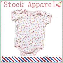 high quality 100% cotton babies clothes baby rompers factory stocks apparel
